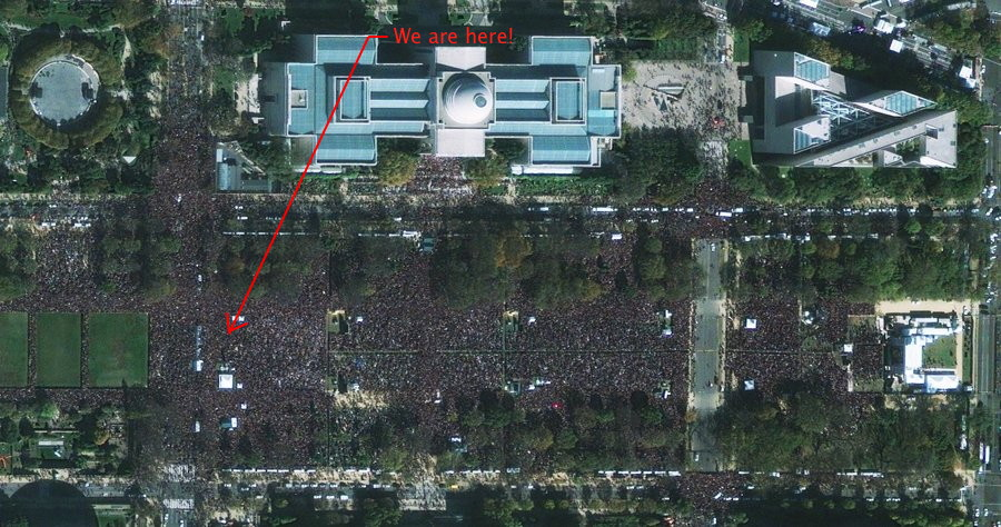 Satellite photo of Rally to Restore Sanity and/or Fear