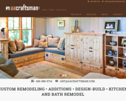 AA Craftsman custom remodeling • additions • design-build • kitchen and bath remodel Bozeman Montana